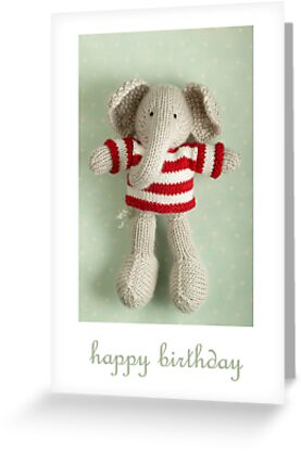 Ed birthday card by bunnyknitter