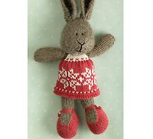 christmas bunny girl by bunnyknitter