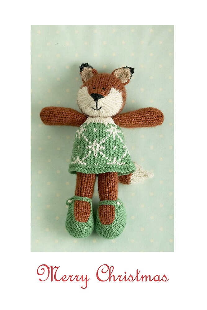 christmas foxy girl by bunnyknitter