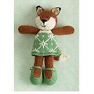 christmas foxy girl by bunnyknitter