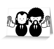 Pulp Fiction Vince & Jules Cartoons v.2.0 Greeting Card