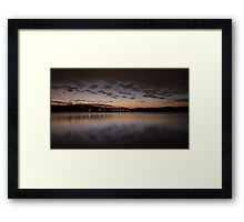 A cold night on Lake Lanier (IV) Framed Print