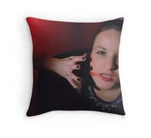 a woman posessed Throw Pillow