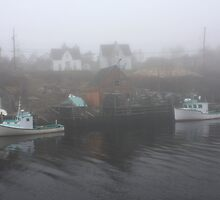 Herring Cove In The Fog by HALIFAXPHOTO