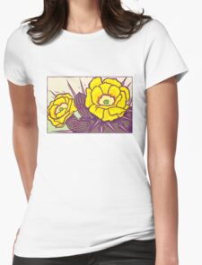 Prickly Pear Womens Fitted T-Shirt