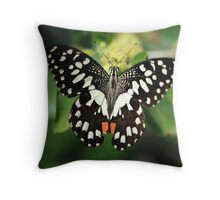 Mr. Lime Butterfly Throw Pillow