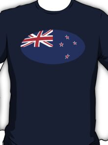 Circular KIWI New Zealand Flag T-Shirt