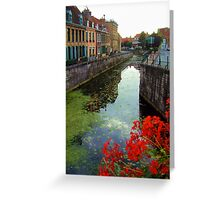 Bergues, near Dunkerque, France. Greeting Card