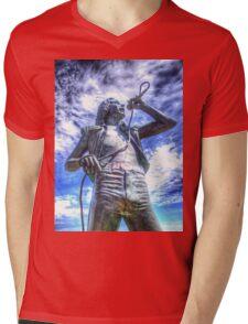 Bon Scott Statue -  HDR - Fremantle WA Mens V-Neck T-Shirt