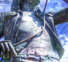 Bon Scott Statue -  HDR - Fremantle WA Sticker