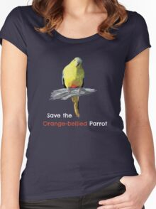 Orange-bellied Parrot products (dark background colours) Women's Fitted Scoop T-Shirt