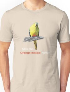 Orange-bellied Parrot products (dark background colours) Unisex T-Shirt