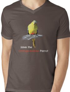 Orange-bellied Parrot products (dark background colours) Mens V-Neck T-Shirt