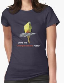 Orange-bellied Parrot products (dark background colours) Womens Fitted T-Shirt