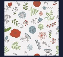 Elegance Seamless pattern with flowers, vector floral illustration in vintage style Kids Clothes