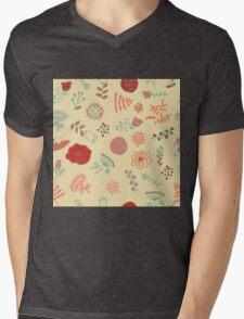 Elegance Seamless pattern with flowers, vector floral illustration in vintage style Mens V-Neck T-Shirt