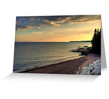 Lake Superior HDR Greeting Card
