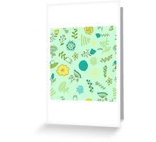 Elegance Seamless pattern with flowers, vector floral illustration in vintage style Greeting Card