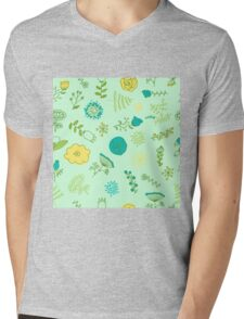 Elegance Seamless pattern with flowers, vector floral illustration in vintage style Mens V-Neck T-Shirt