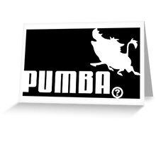 Pumba, Lion King vs. Puma Greeting Card