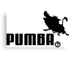 Pumba, Lion King vs. Puma Canvas Print