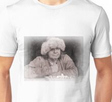 Viking in York #26, Tom Thrall playing Hnefatafl Unisex T-Shirt