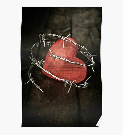 protected heart Poster