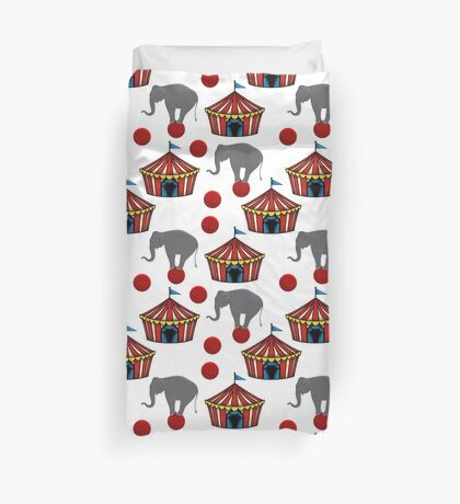 Circus Tents and Elephants Duvet Cover Duvet Cover