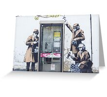 """We are Listening"" Banksy Greeting Card"