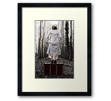 step into my new life Framed Print
