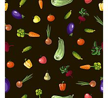 with growing vegetables - beetroot, potato, carrot, garlic and onion Photographic Print