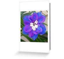 Single Delphinium Greeting Card