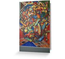 urban graffitti brawl Greeting Card