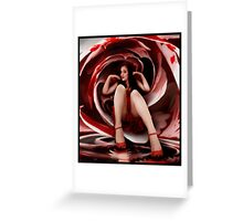 Woman A Rose Greeting Card
