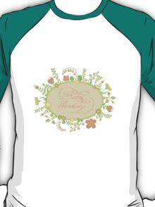 HAPPY EASTER hand lettering handmade calligraphy scalable and editable vector illustration T-Shirt