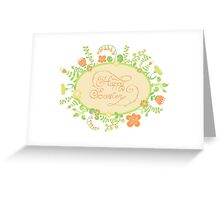 HAPPY EASTER hand lettering handmade calligraphy scalable and editable vector illustration Greeting Card