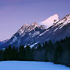Blue hour on the mountains by Patrick Morand