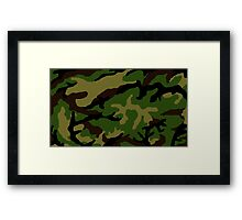 Camouflage Military Tribute Framed Print