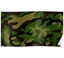 Camouflage Military Tribute Poster