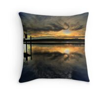 Sun Set Blues Throw Pillow