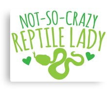 not-so-crazy REPTILE Lady Canvas Print