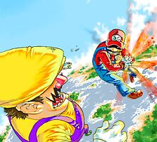 Majin Mario: The Red Kamehameha by TheGreyNinja