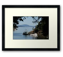 View from Butchart Gardens Framed Print