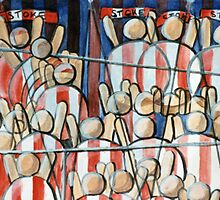 Stoke City Football fans by TRACY BAGNALL