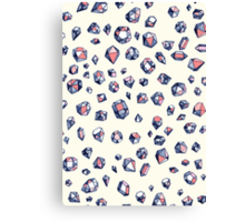 Navy & Coral Crystals Canvas Print