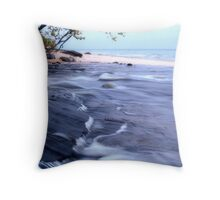 An evening at twelevemile beach Throw Pillow