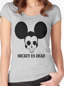 Micky Mouse Es Dead Women's Fitted Scoop T-Shirt