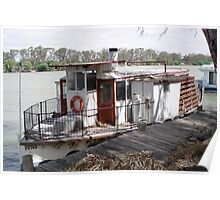 Retired paddle steamer Poster