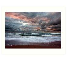 Stormy Skies of Inverness Beach Nova Scotia  Art Print