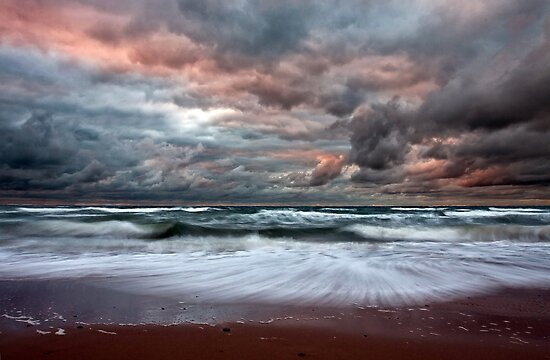 Stormy Skies of Inverness Beach Nova Scotia  by EvaMcDermott